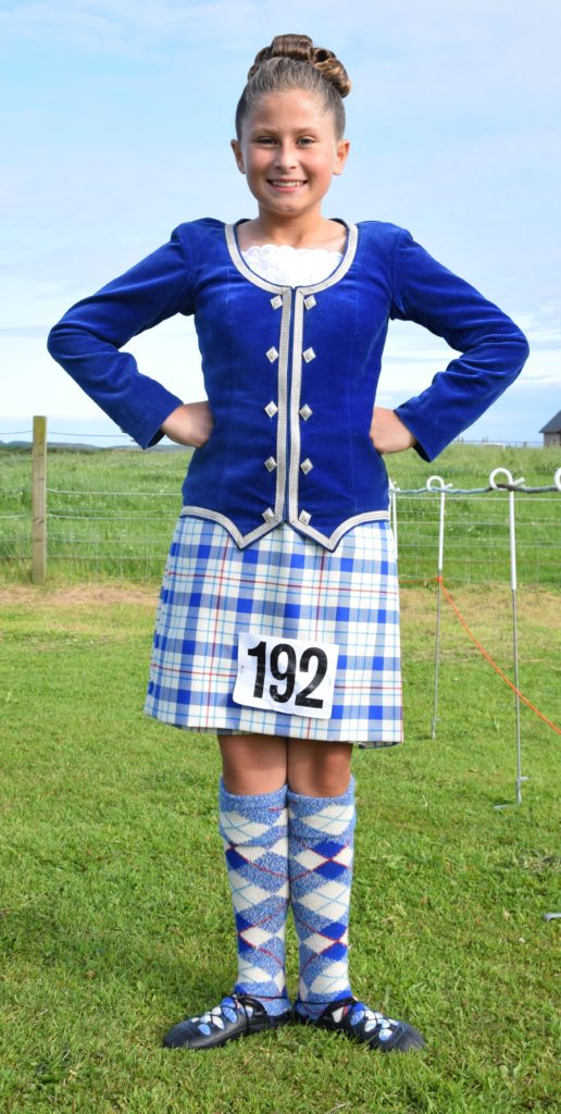Tiffany Norris, 11, from Campbeltown takes a break between dances.