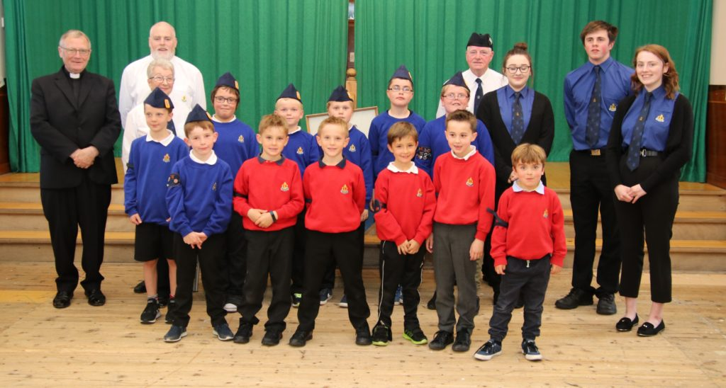 Boys with guests, staff and leaders at the 7th annual display.