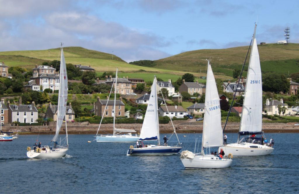 Campbeltown Loch was packed with vessels on Saturday afternoon.