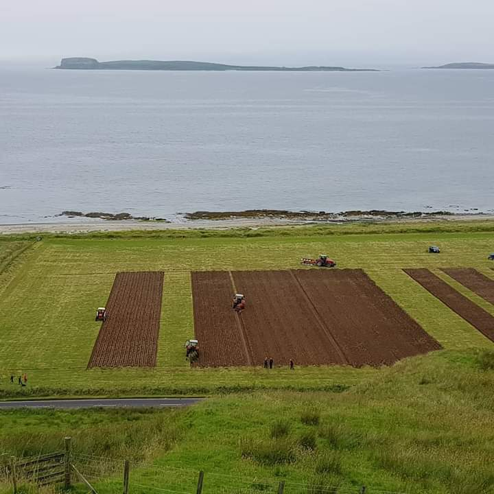 View from above the ploughing match.