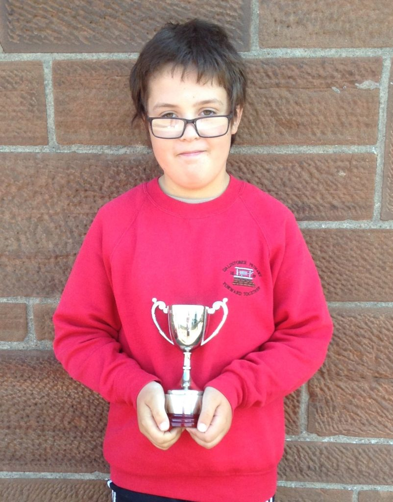 The Campbell Cup for creativity winner, Charl Lavery.