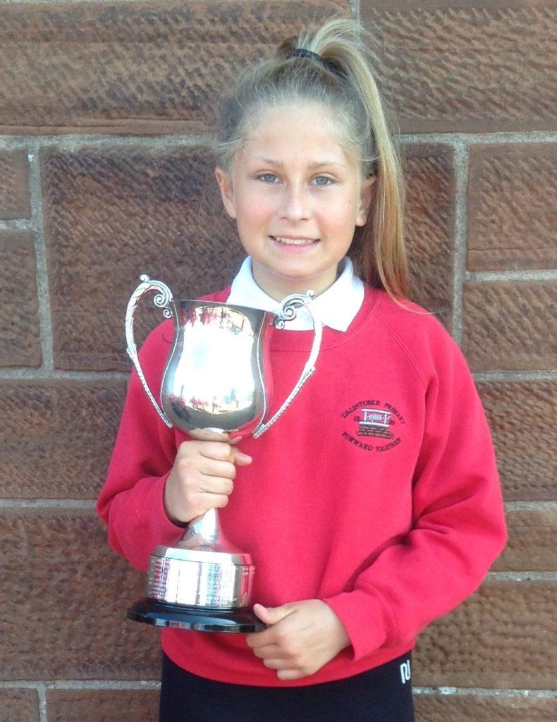 Jenny Ralston Memorial Trophy for creative skills winner, Tiffany Norris.
