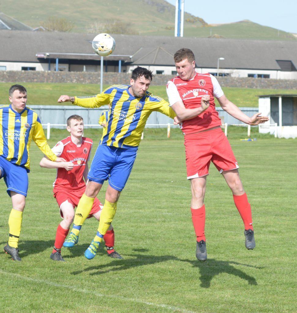 Ryan McConnachie scored a brace for the Pupils.