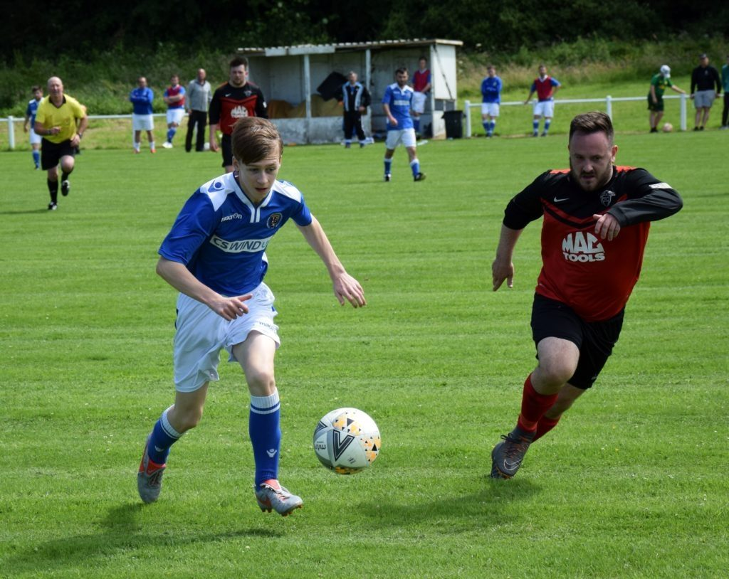 Ross Brown opened the scoring for the Pupils.