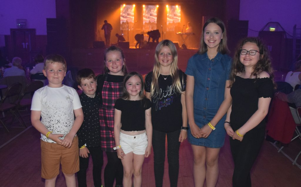 The Festival Ceilidh was fun for all the family. Pictured here are, from left, Liam Brodie, Charley Gilchrist, Hannah Gilchrist, Emma Johnston, Ailie Renton, Iona Renton and Amy Ross.