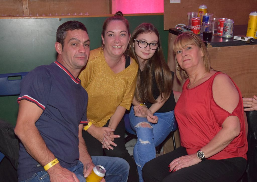 Mary Wareham, right, from Campbeltown, was joined at the Festival Ceilidh by family members Matthew, Alison and Bella Frater, who travelled from Manchester.
