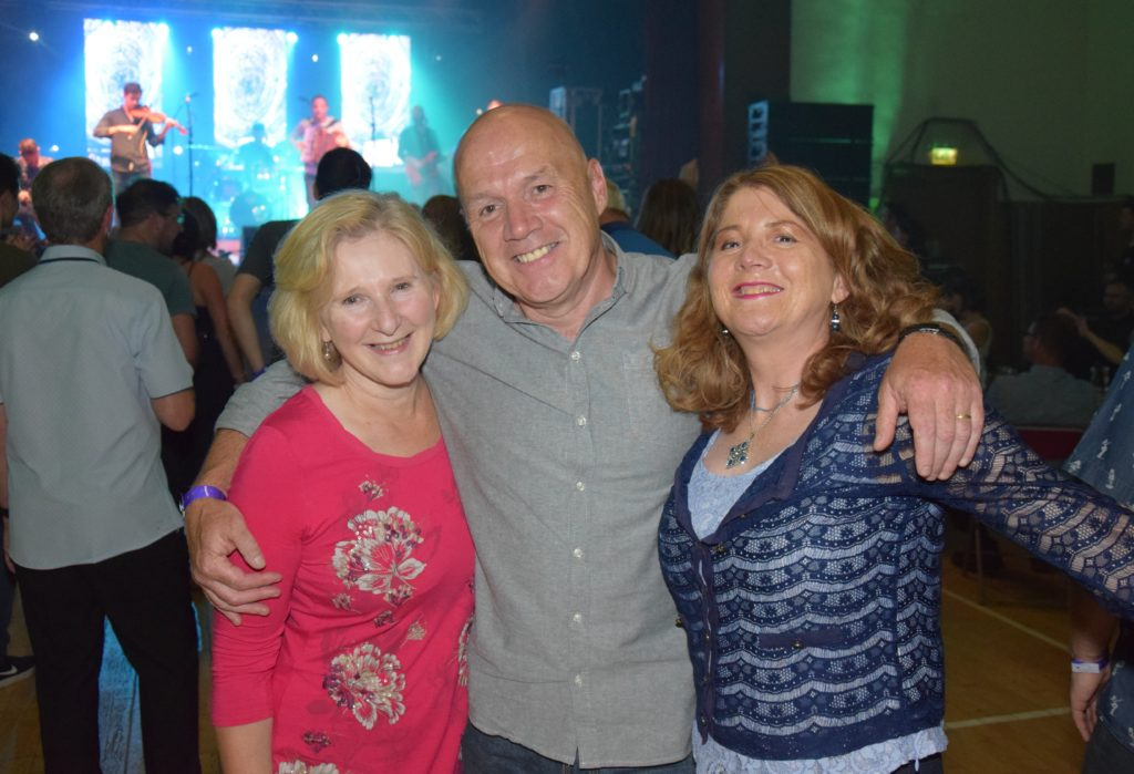 Campbeltown Grammar School teaching stalwarts, husband and wife Alison Woodrow and Jim Farren, and Janice MacGregor at Saturday's West Coast Rocks Concert.