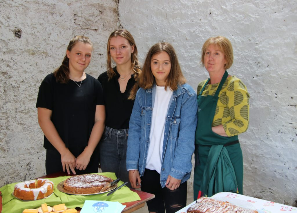 Behind the catering stall are, from left: Sienna Young, Anais Young, Anna Gemmill and Monica Gemmill.