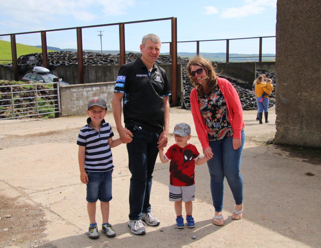 Jack Reid, Jamie Reid, Archie Reid and Denise Reid enjoyed their day out at the farm.