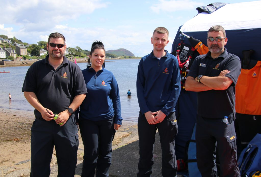 Coastguards Steven Wood, Laura McAllister, Robbie Herbertson and Robert Houston were on stand-by.