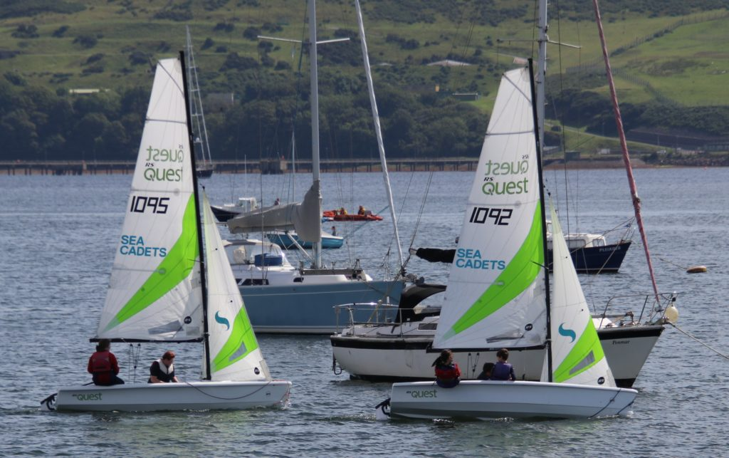 Members of Campbeltown Sea Cadets put their skills to the test.