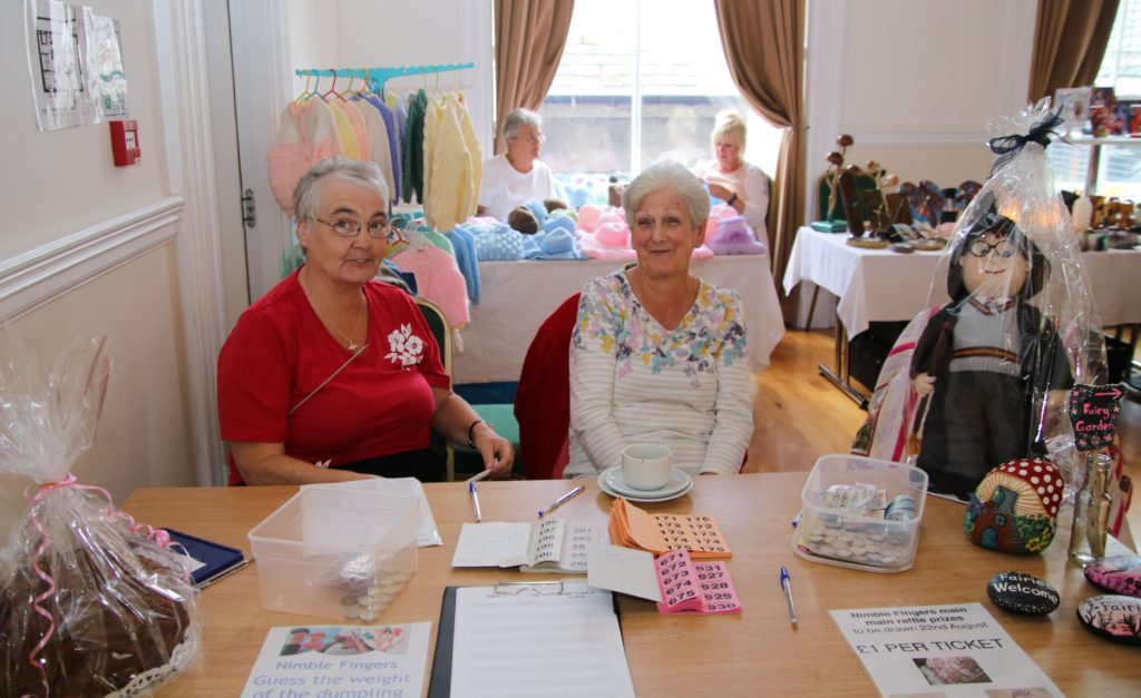 Marjorie Lang and Morag Johnston sold raffle tickets.