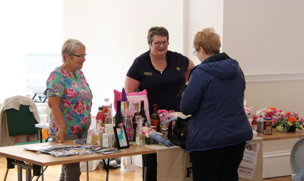 The tombola stall was packed with goodies.
