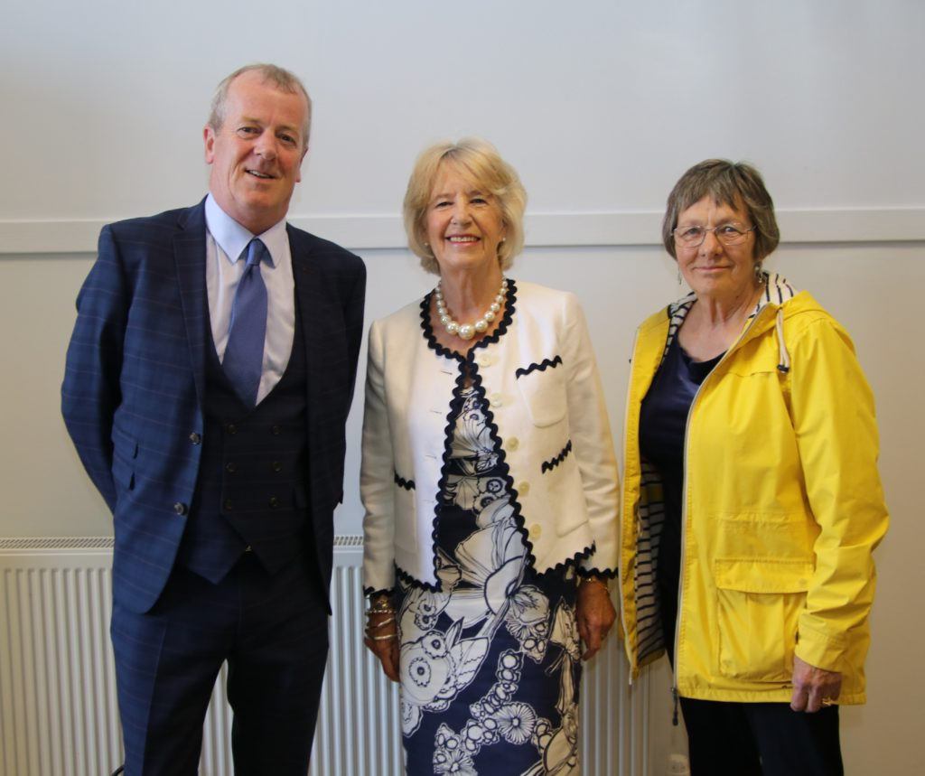 SKDT manager Eric Spence, former Red Cross convener Anne Cousin and SKDT chair Felicity Kelly.