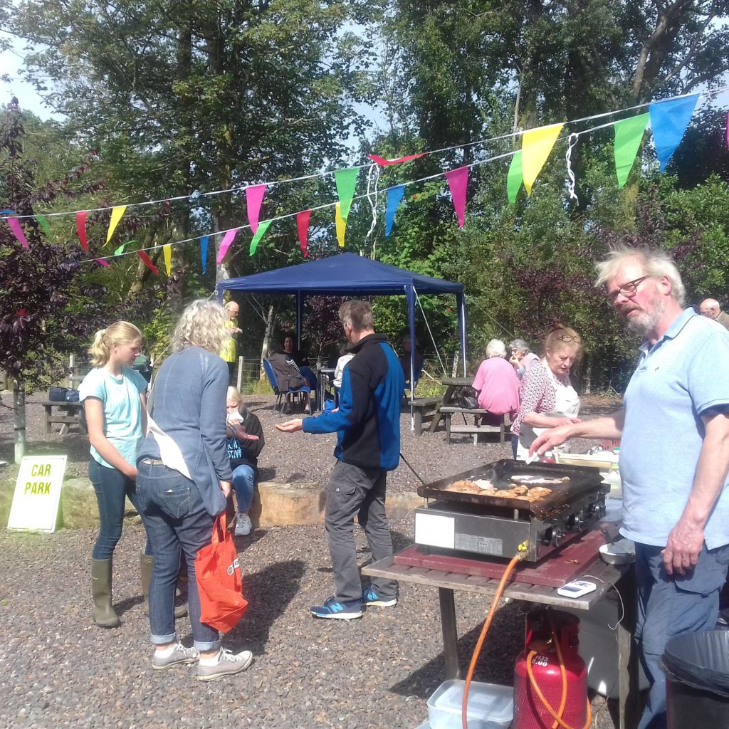 Burgers and sausages were on sale at Phil Connor's stall.