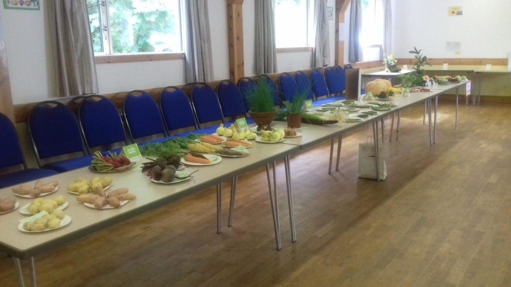 There was a good selection of vegetables on show.