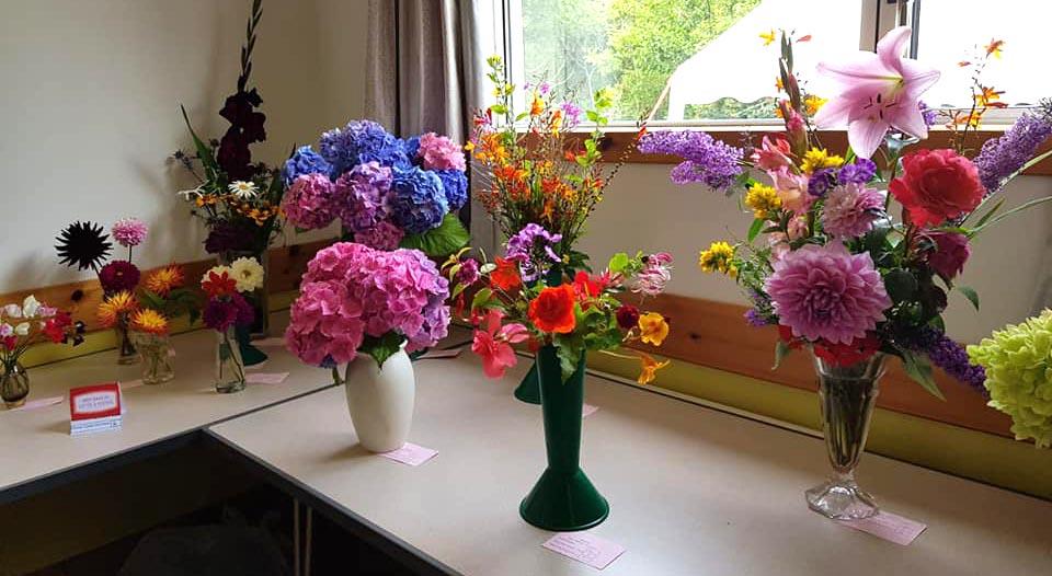 The winning flower arrangements were stunning.