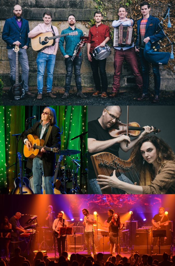 Mànran, top, Dougie MacLean, and Chris Stout and Catriona Mackay, middle, and Slainte Davaar Allstars, bottom.