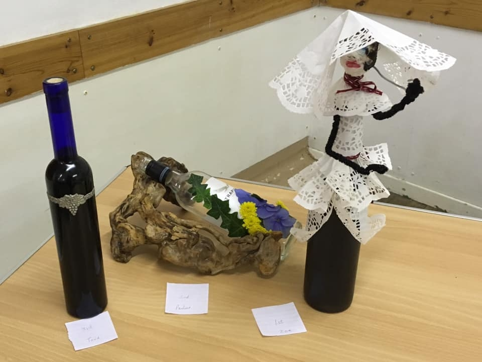 The other competition was a decorated wine bottle.