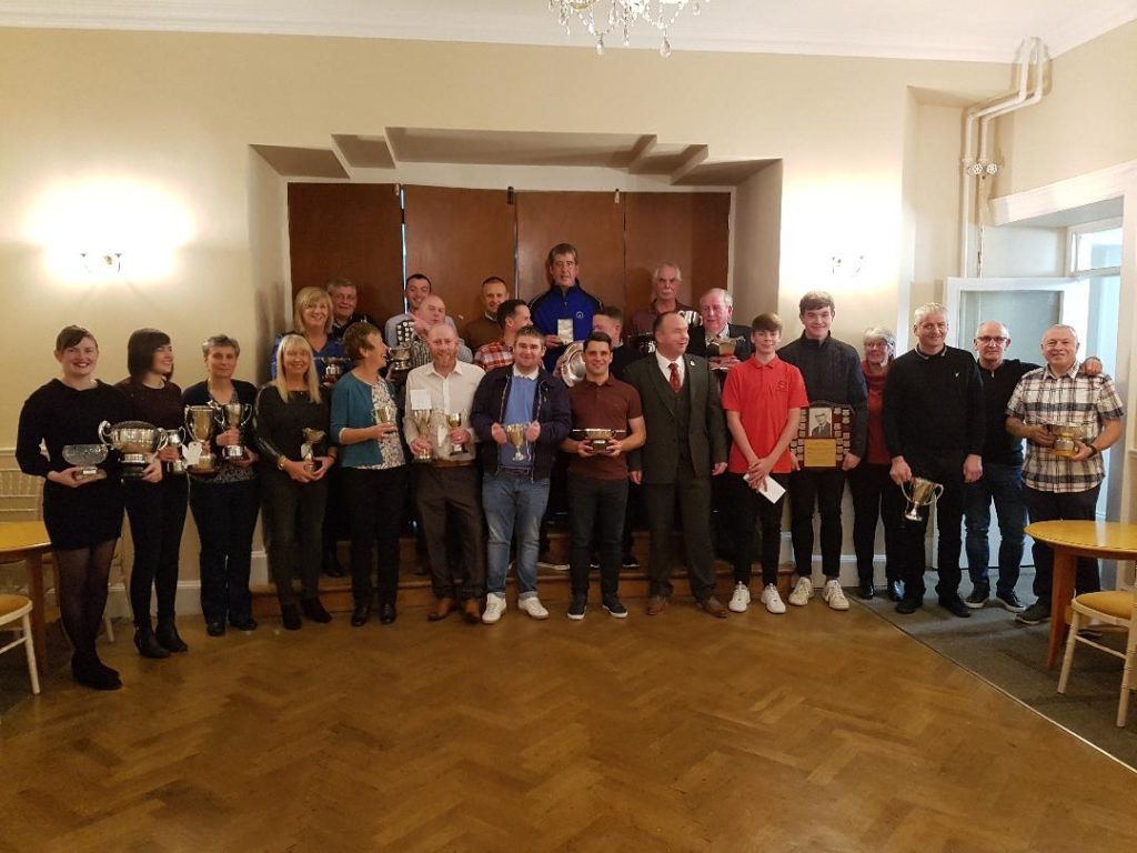 The Machrihanish Golf Club prize-winners of 2019.