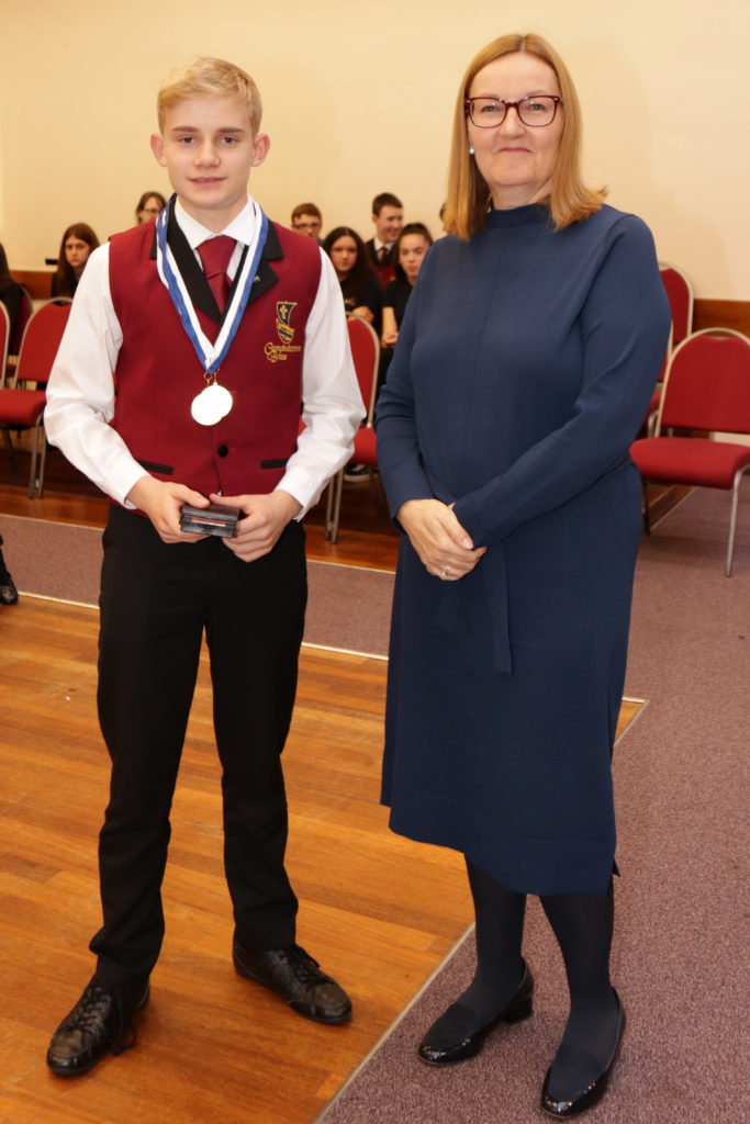 Third placed intermediate soloist Jack Campbell.