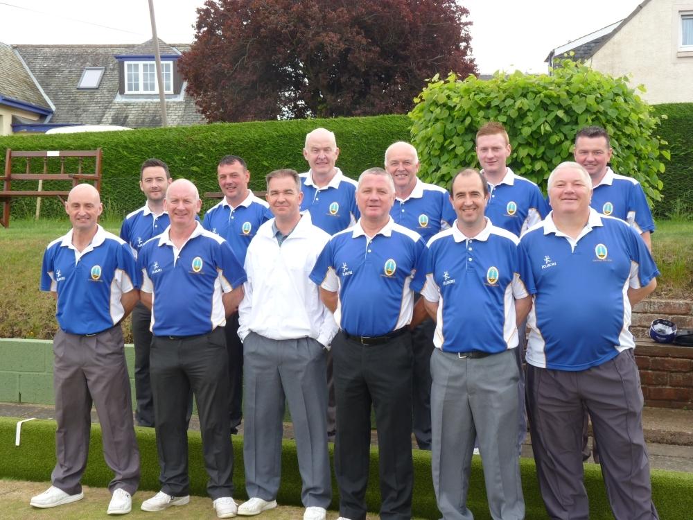 Stronvaar team in Scottish bowling match