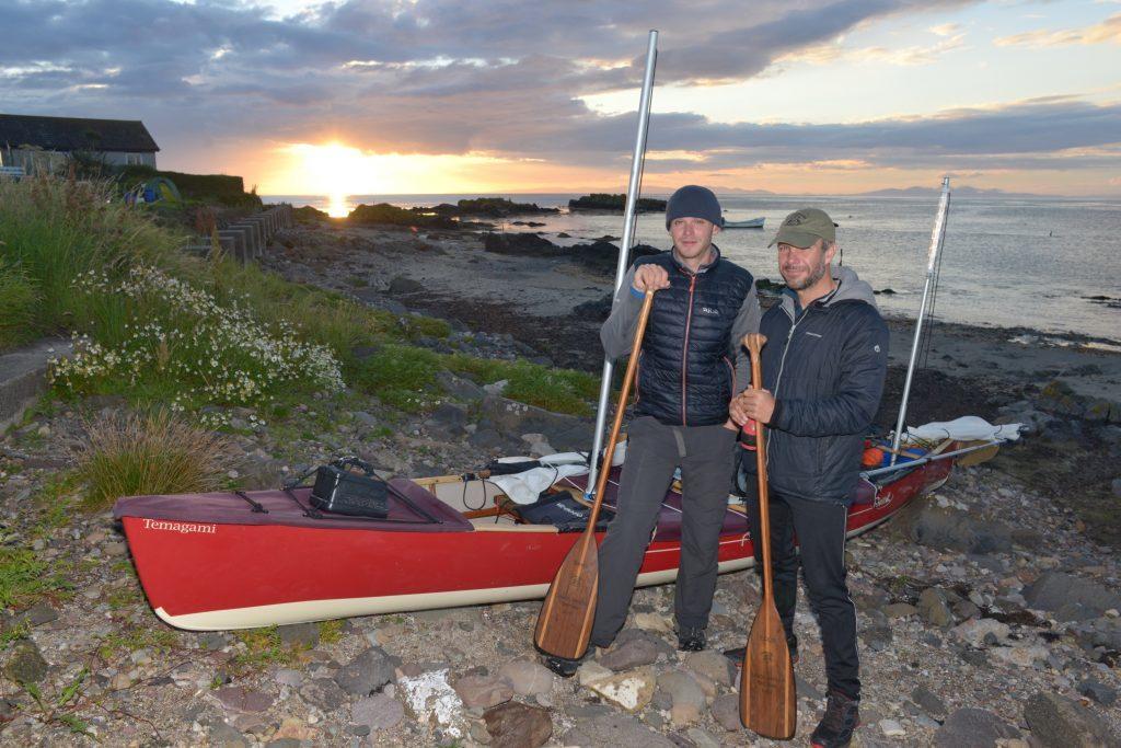 Machrihanish landfall for canoeists near end of first circumnavigation of UK