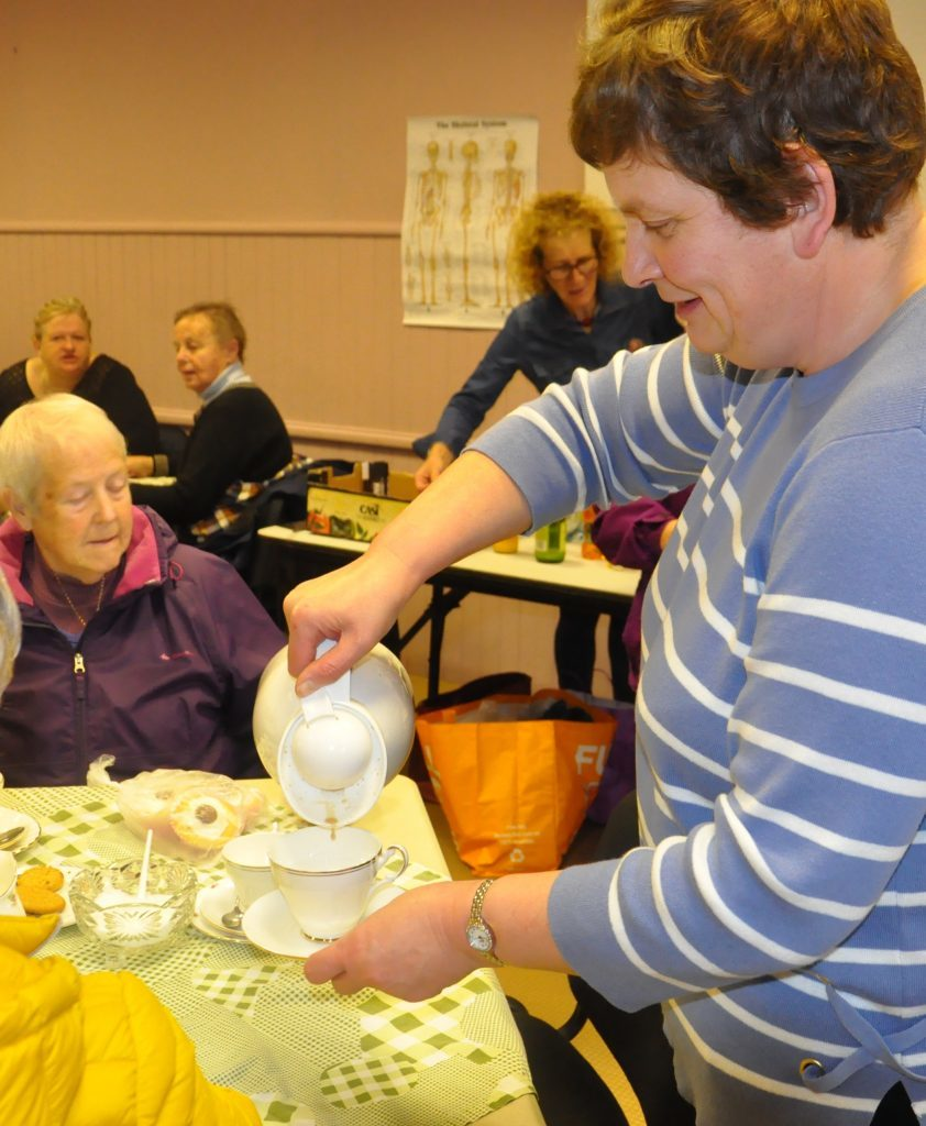 Mairi Semple coffee morning at full strength