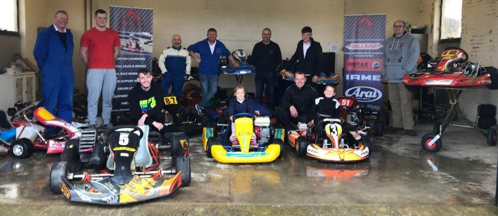 Go-kart racers roar round airbase