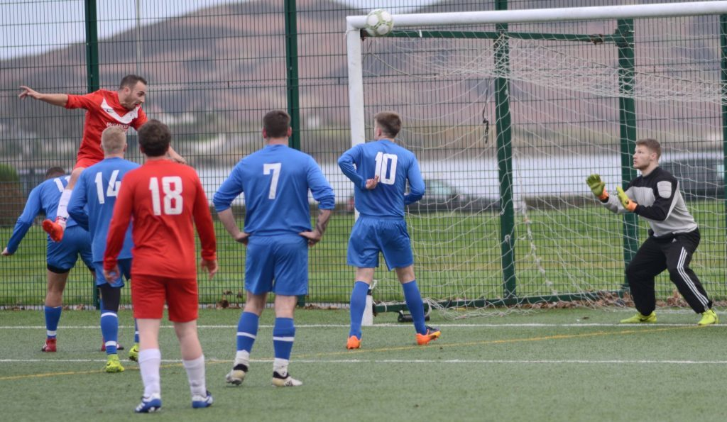 Kintyre footballers fired up in feisty friendly