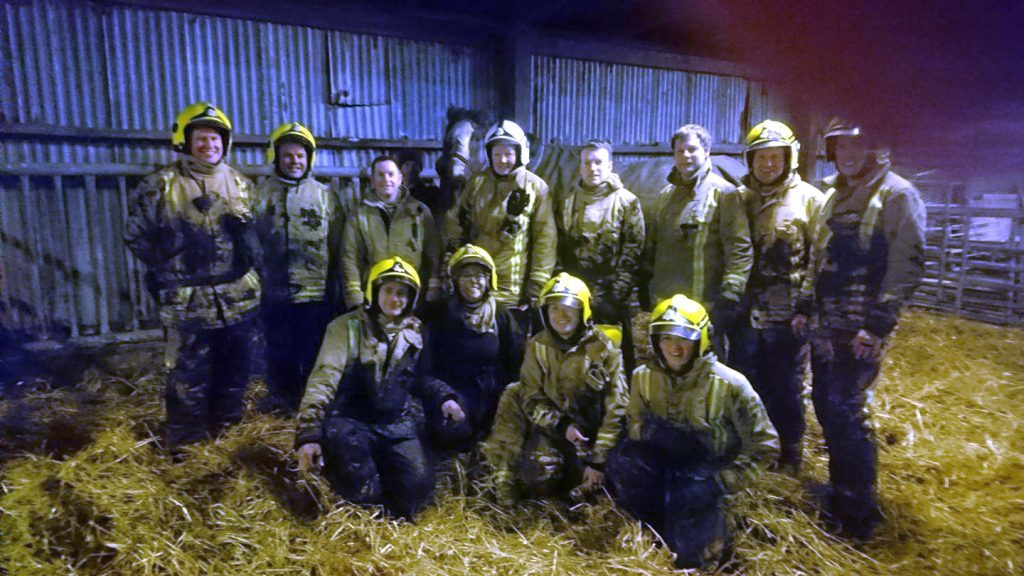 Firefighters saddle up for horse rescue