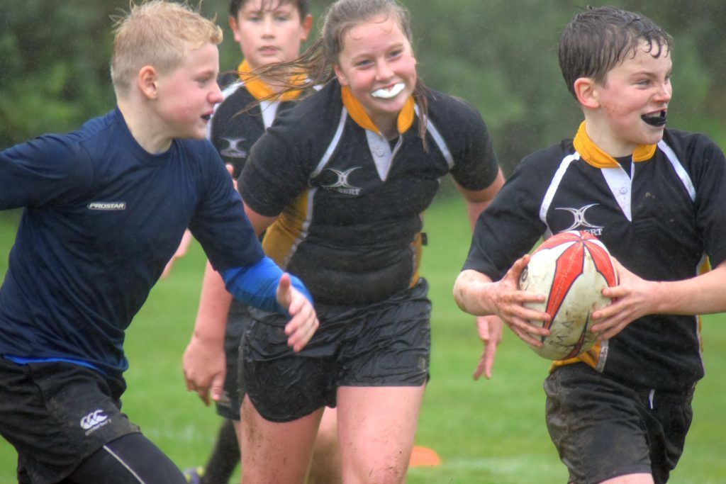 Kintyre's mini rugby stars in festival action