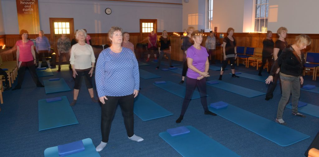 Pilates classes by candlelight