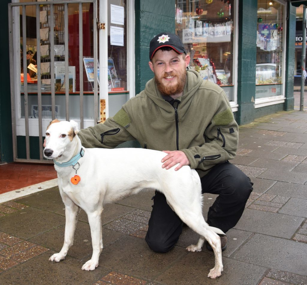 One man and his dog walk for PTSD