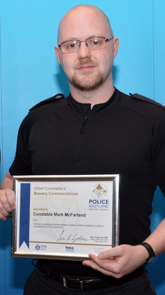 Campbeltown constable's courage commended