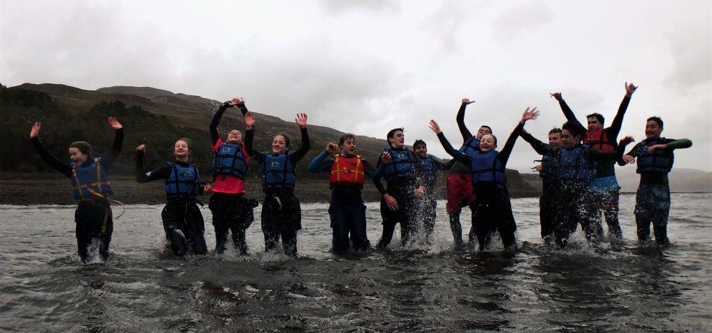 Pupils make a splash in Mull
