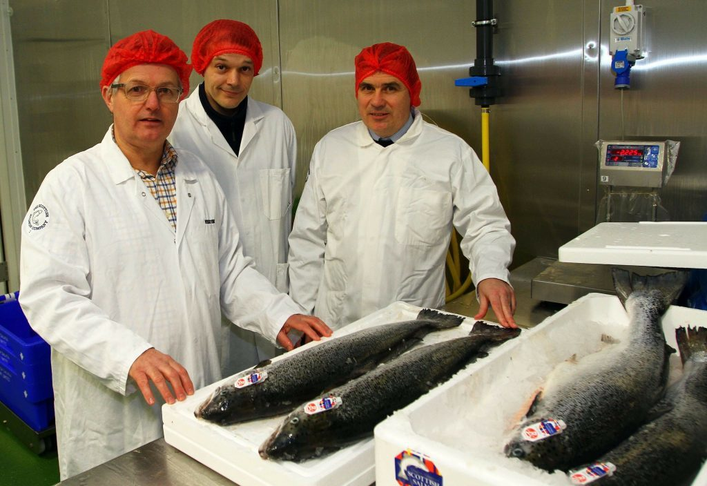 MP meets Scottish Salmon processing team