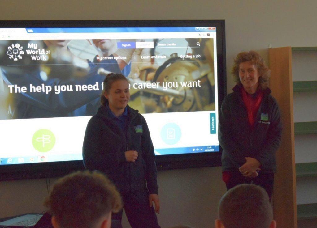 Apprentices ignite students' interest in training