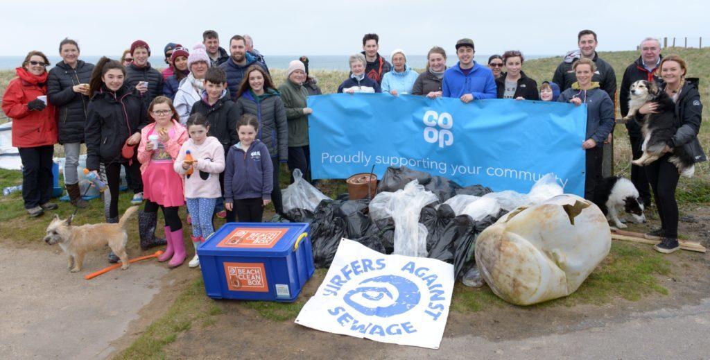 Beach cleaners comb Westport sands