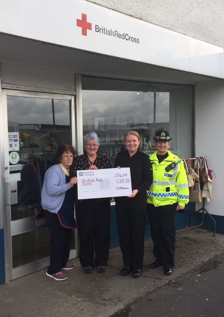 Coppers donate to charities