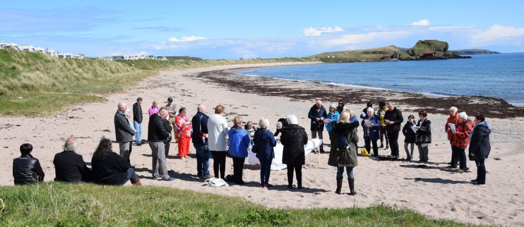 Rosary on the coast lands in Dunaverty
