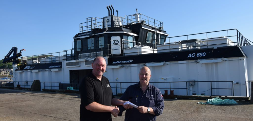Latest salmon farm barge berths in Campbeltown