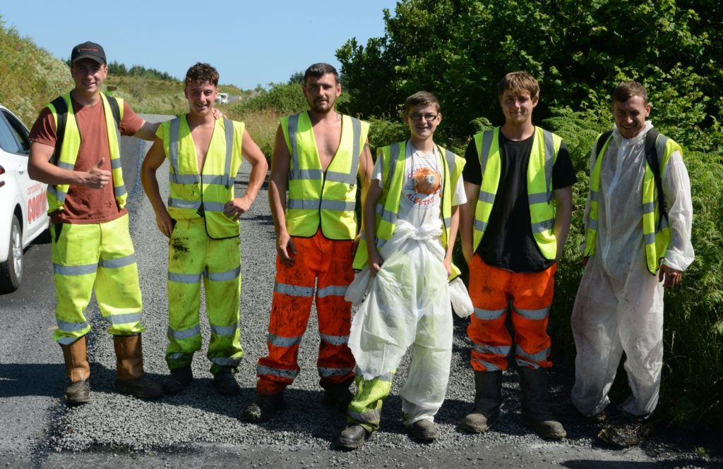Birmingham firm resurfaces East Kintyre road