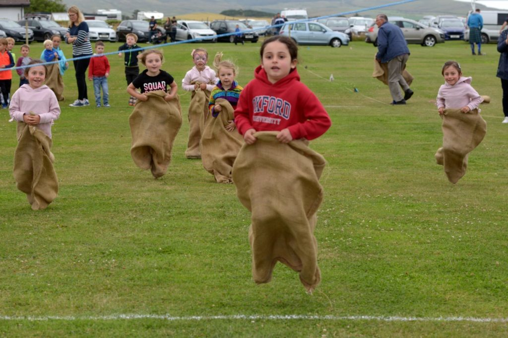 Southend's sack racers, sprinters and shot putt stars