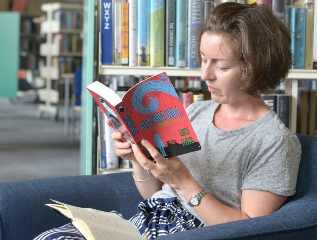 Campbeltown library visit for Edinburgh author