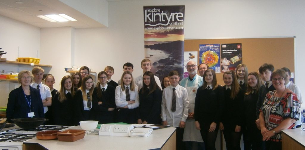 Hospitality masterclass at Campbeltown Grammar School