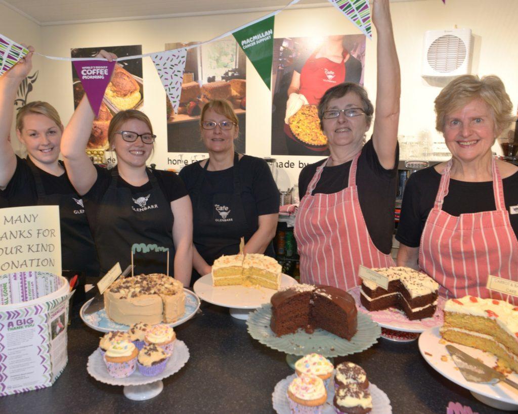 Café's workers make Macmillan mint
