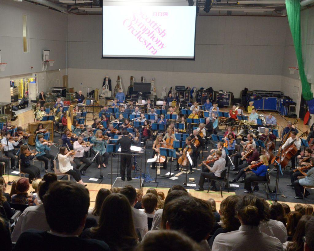 Full BBC orchestra at CGS