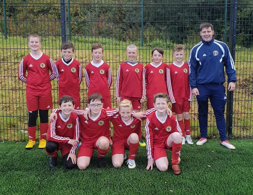 Youngsters tackle nine-a-side football