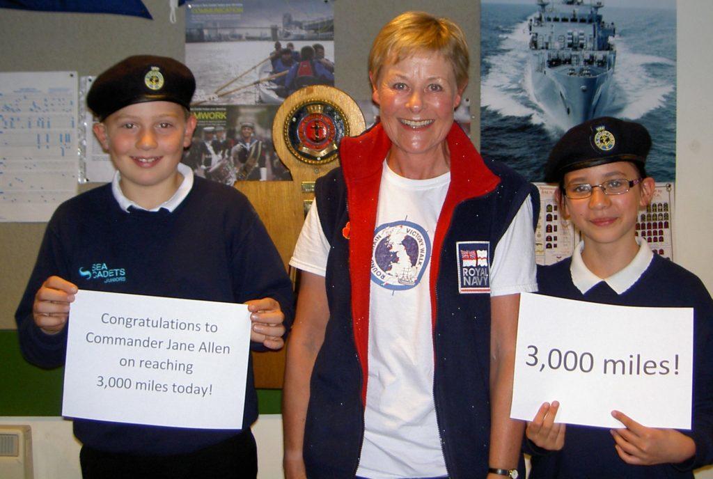 Naval officer's round Britain victory walk